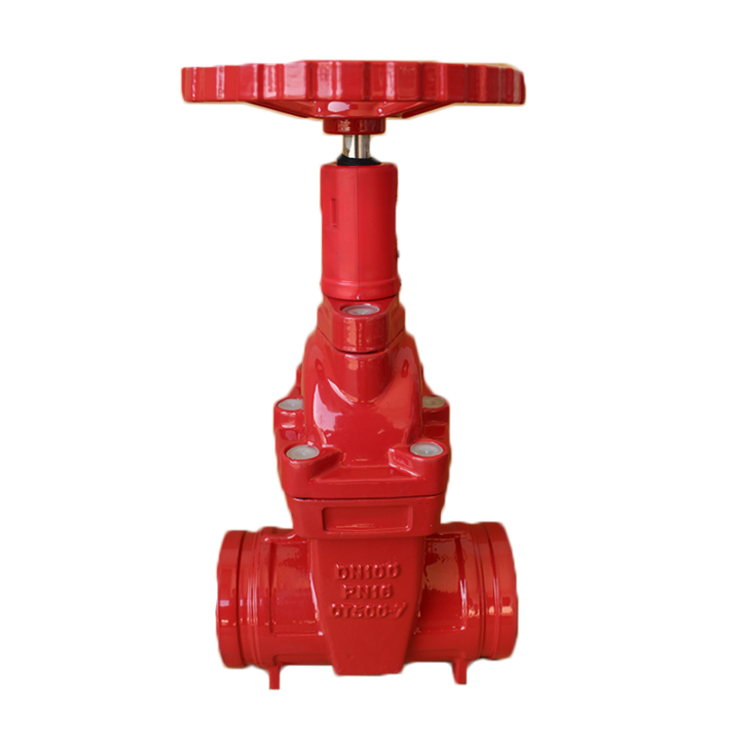 BS5163 Cast Iron Pressure Groove End Gate Valve