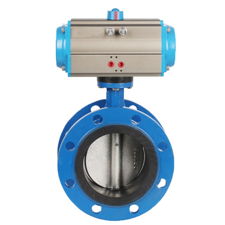 Ductile iron Flange Butterfly Valve  with Pneumatic