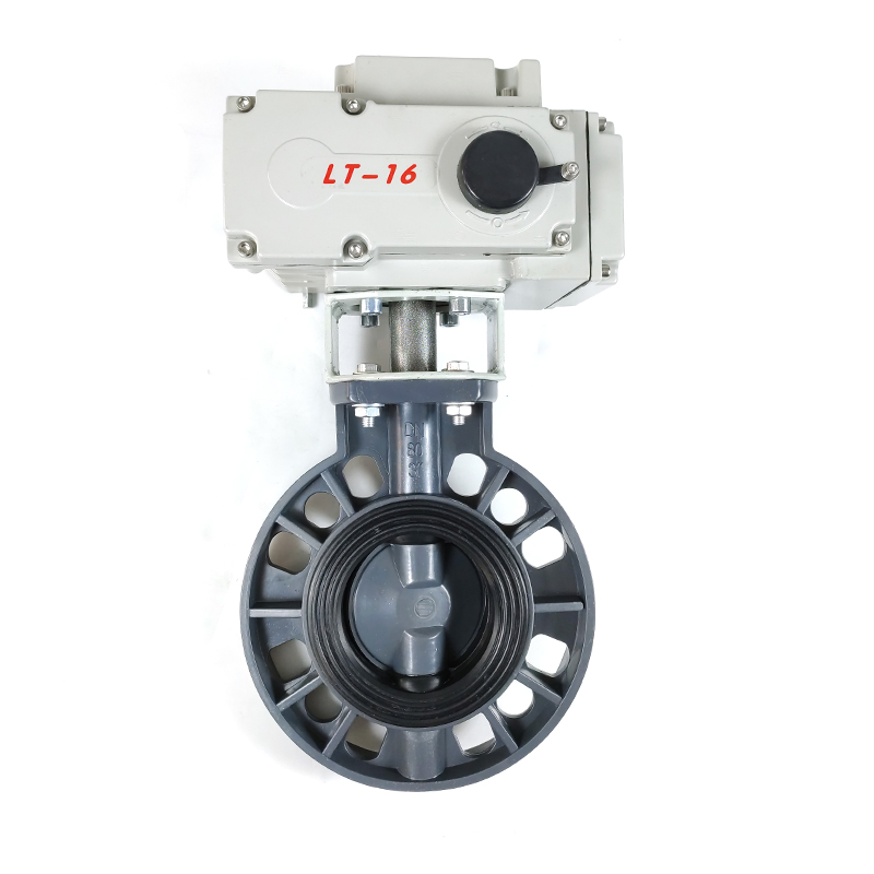 Electric Actuated UPVC butterfly valve